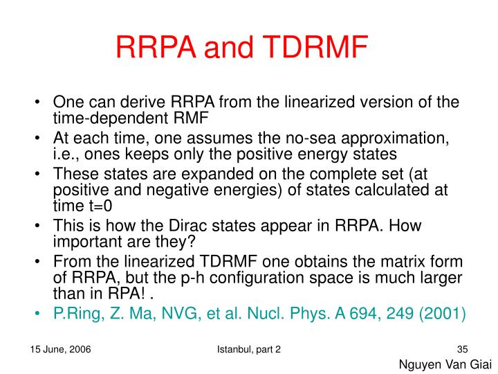 RRPA and TDRMF
