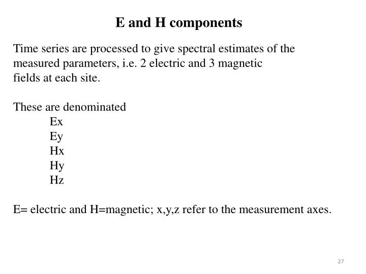 E and H components