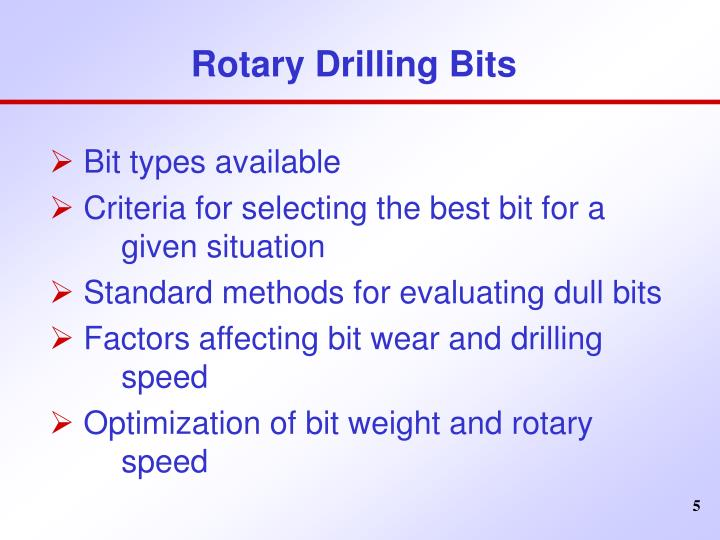 Rotary Drilling Bits
