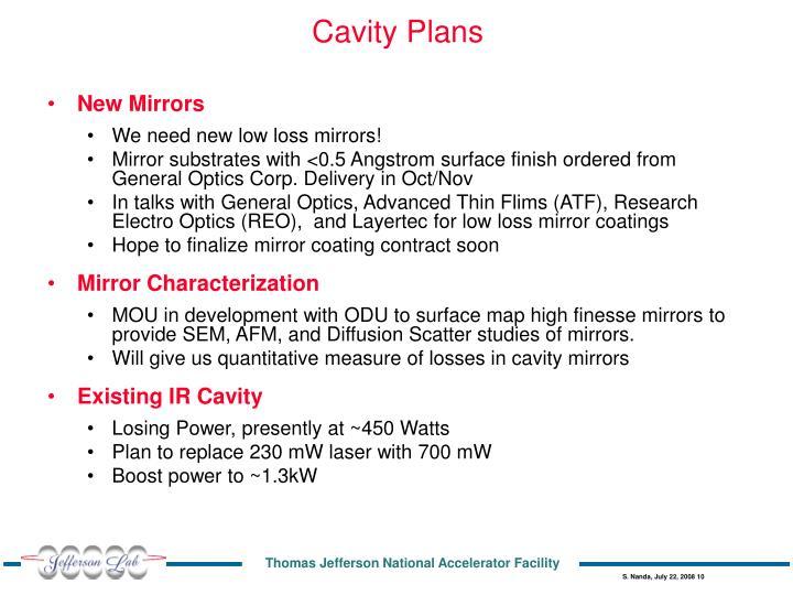 Cavity Plans