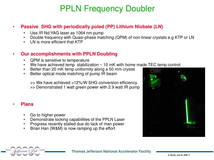 PPLN Frequency Doubler