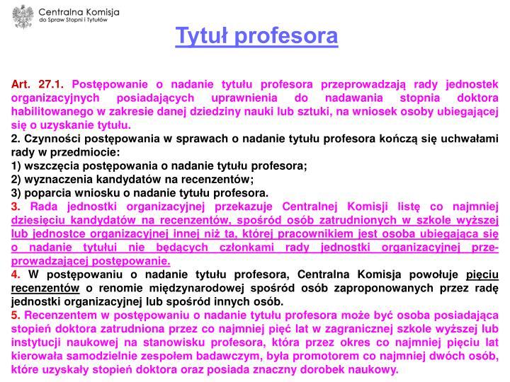 Tytuł profesora