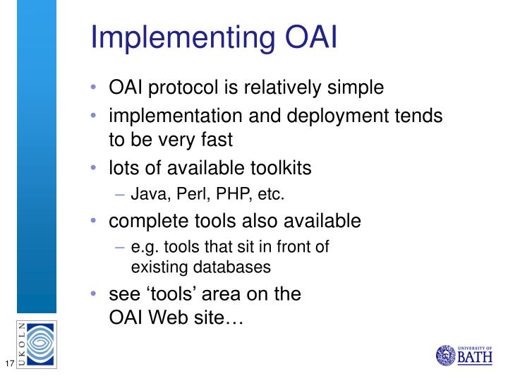 Implementing OAI