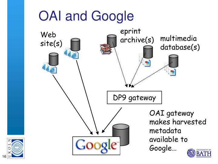OAI and Google