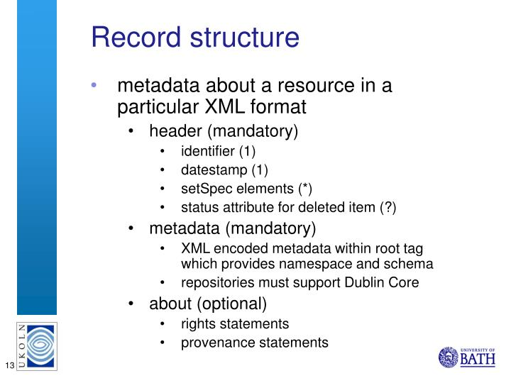Record structure