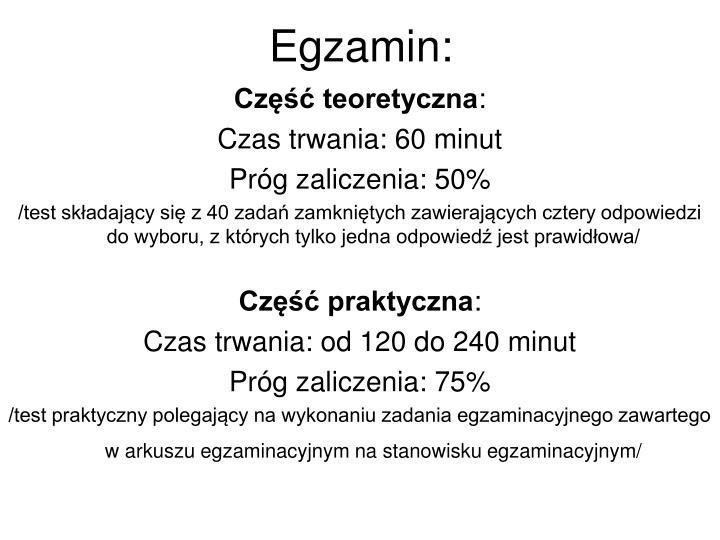 Egzamin: