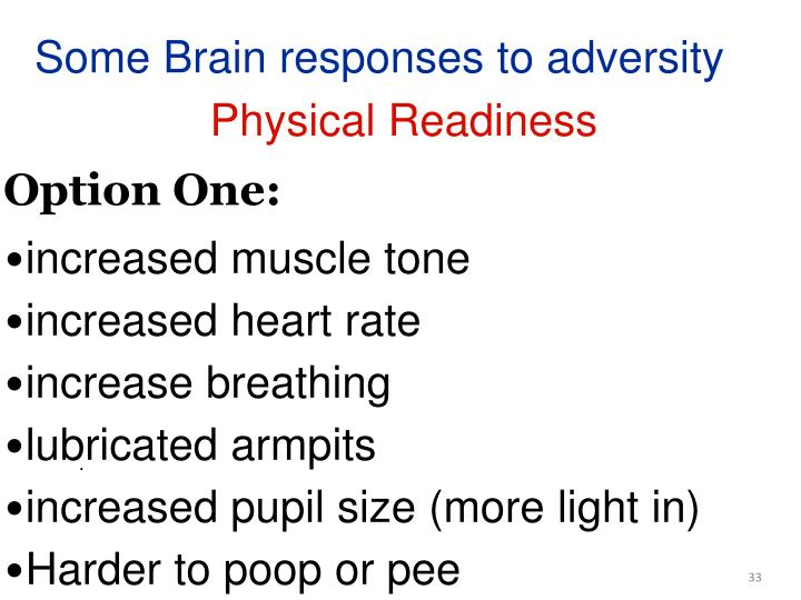 Some Brain responses to adversity