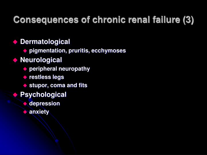 Consequences of chronic renal failure (3)