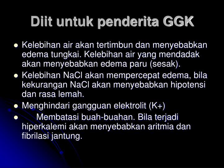 Diit untuk penderita GGK