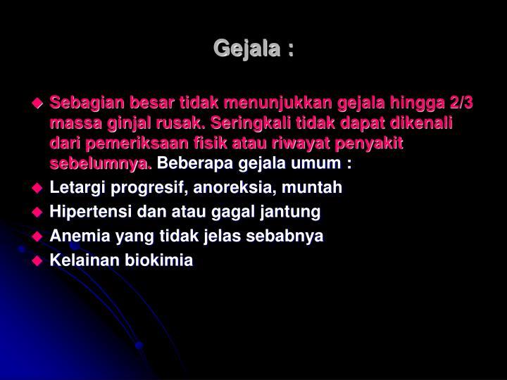 Gejala :