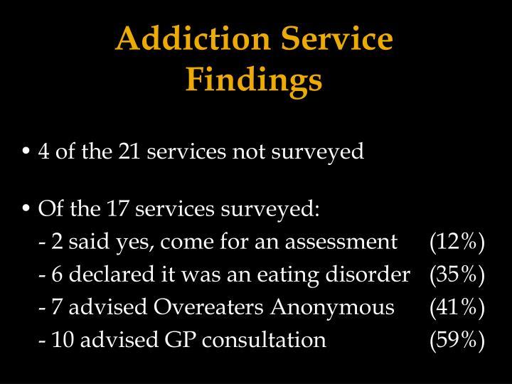 Addiction Service