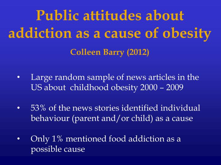 Public attitudes about addiction as a cause of obesity