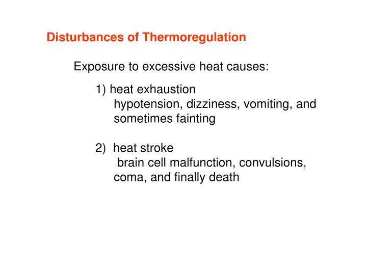 Disturbances of Thermoregulation