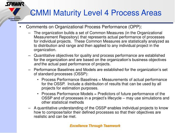 CMMI Maturity Level 4 Process Areas