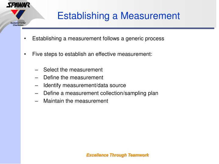 Establishing a Measurement