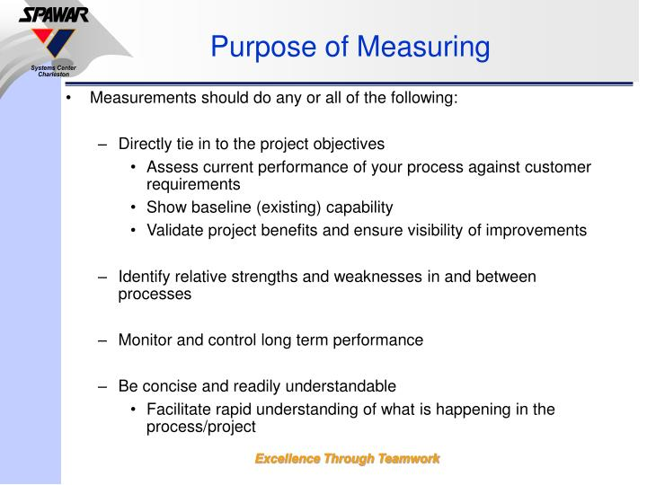 Purpose of Measuring