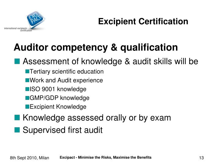 Auditor competency & qualification