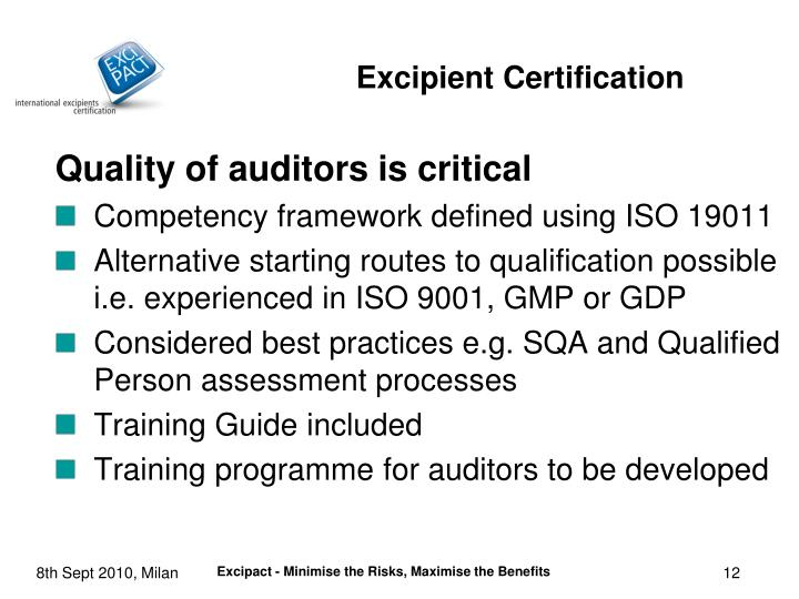 Quality of auditors is critical