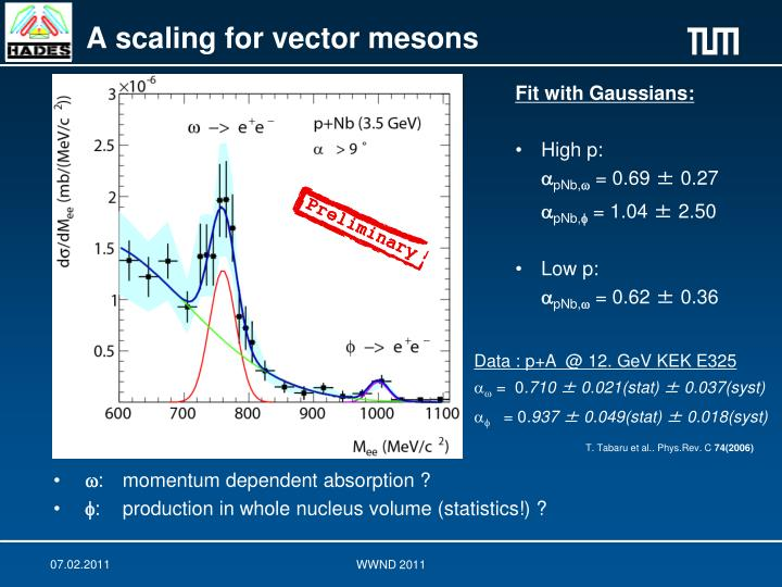 A scaling for vector mesons