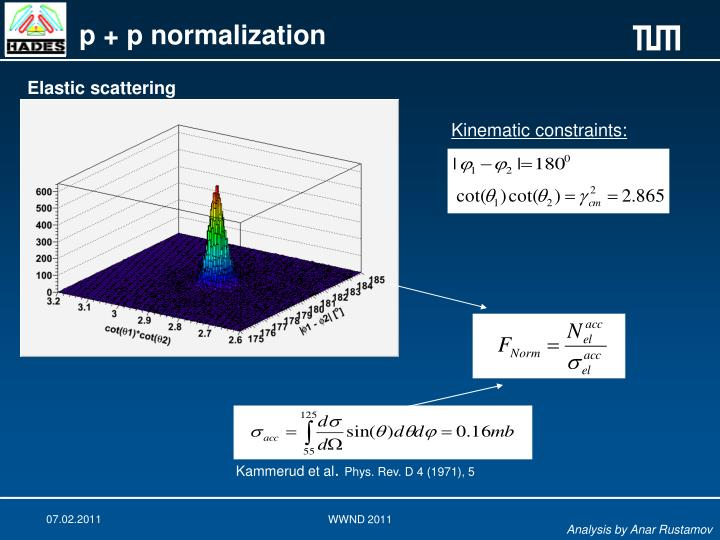 p + p normalization