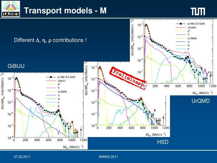 Transport models - M