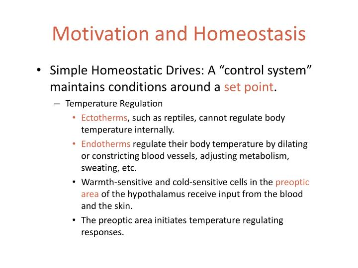 Motivation and Homeostasis