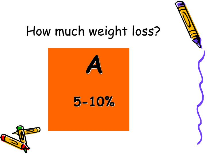 How much weight loss?