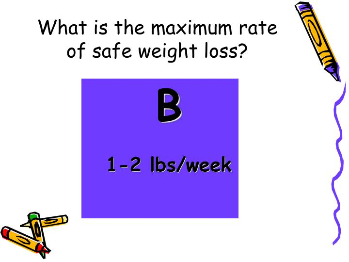 What is the maximum rate of safe weight loss?