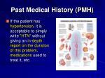 past medical history pmh6
