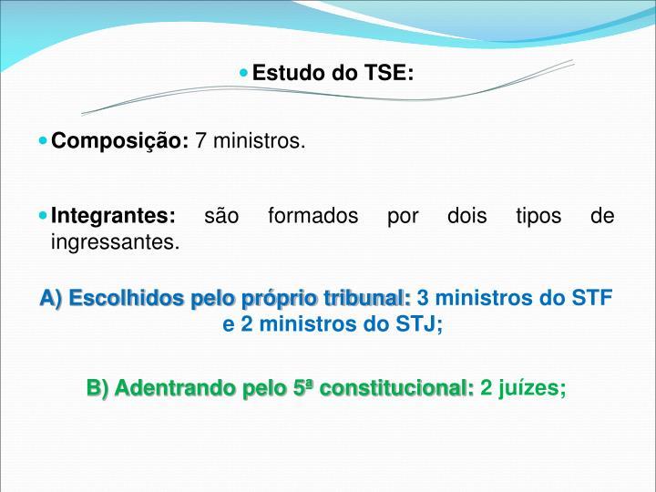 Estudo do TSE:
