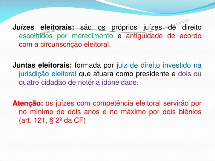Juízes eleitorais:
