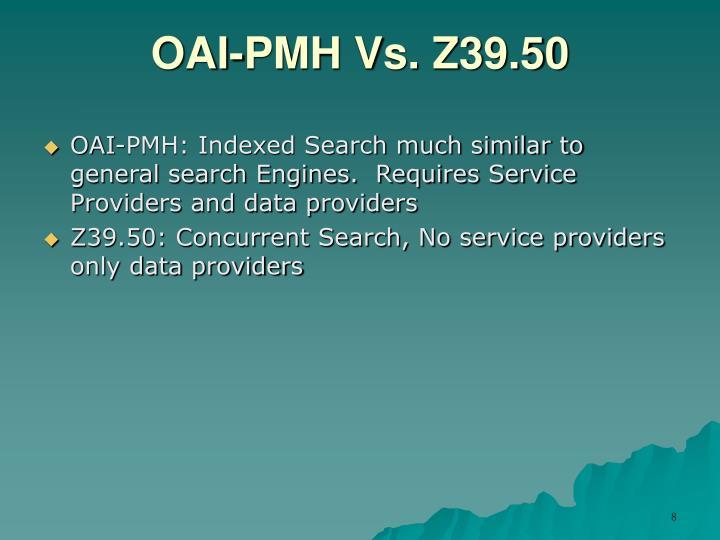 OAI-PMH Vs. Z39.50