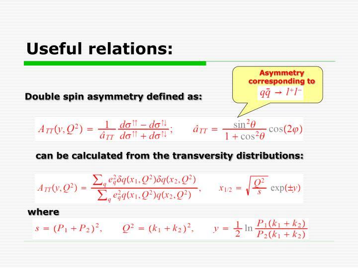 Asymmetry corresponding to