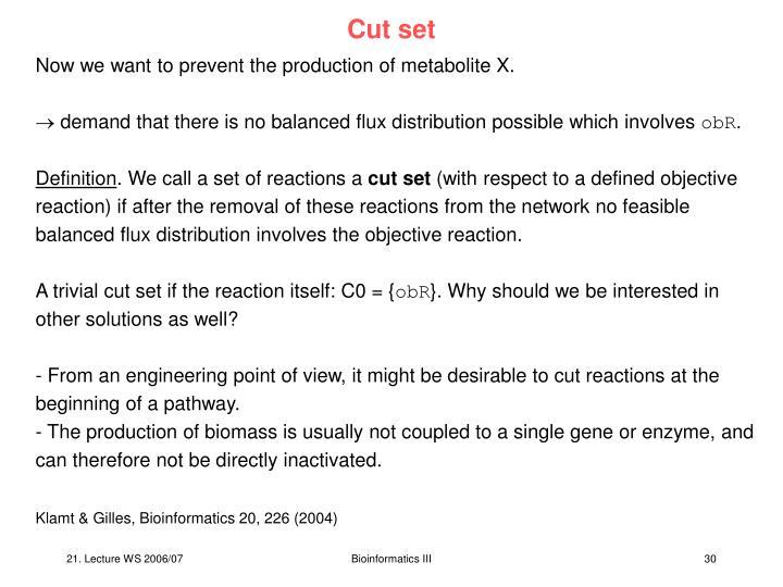 Cut set