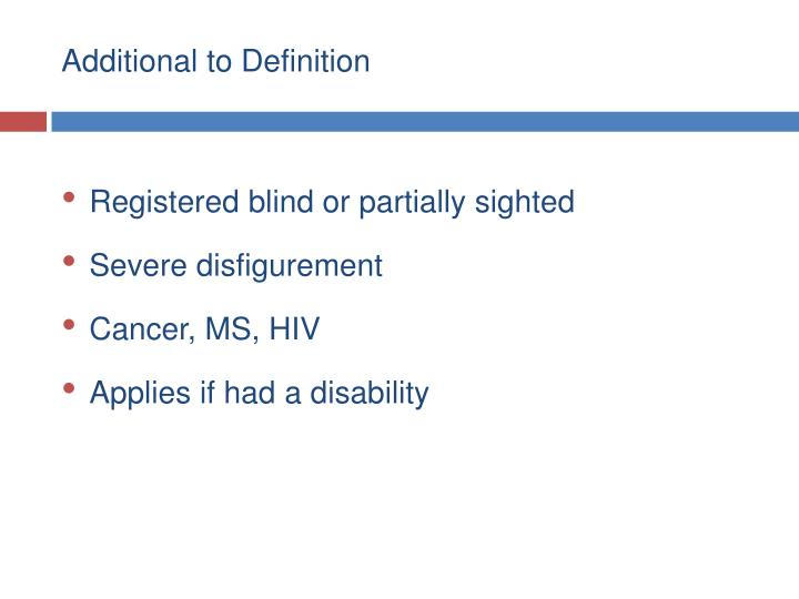 Additional to Definition