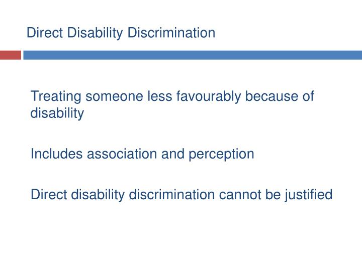 Direct Disability Discrimination