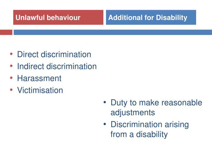 Unlawful behaviour