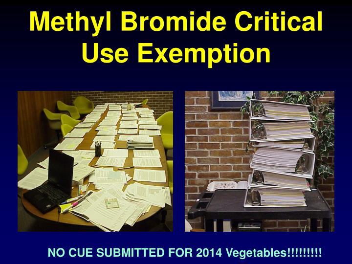 Methyl Bromide Critical Use Exemption
