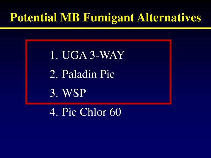 Potential MB Fumigant Alternatives