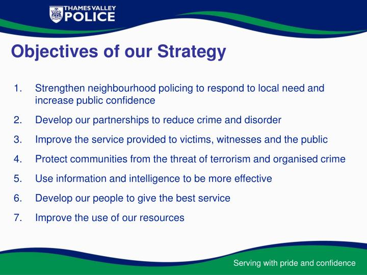 Objectives of our strategy