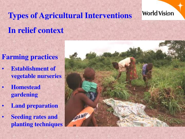 Types of Agricultural Interventions