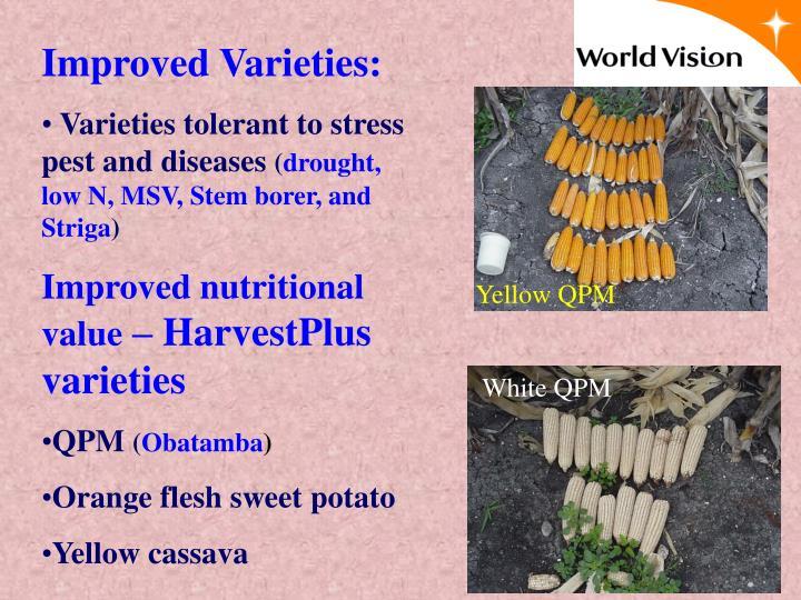 Improved Varieties: