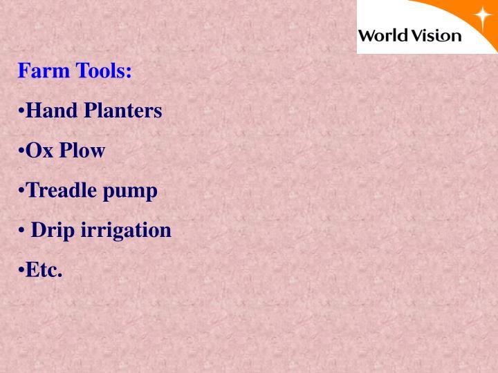 Farm Tools: