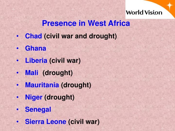 Presence in West Africa