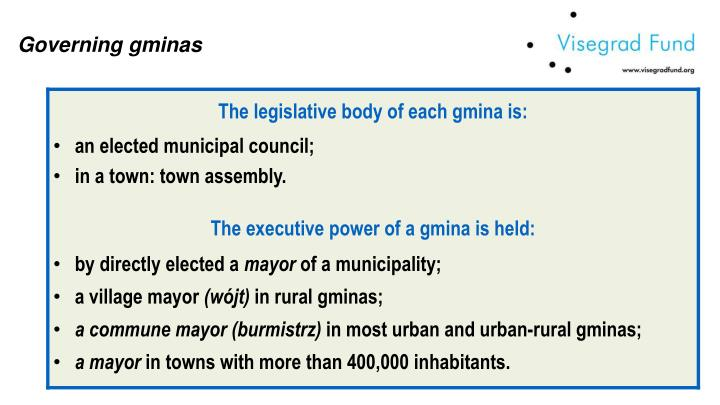 Governing gminas