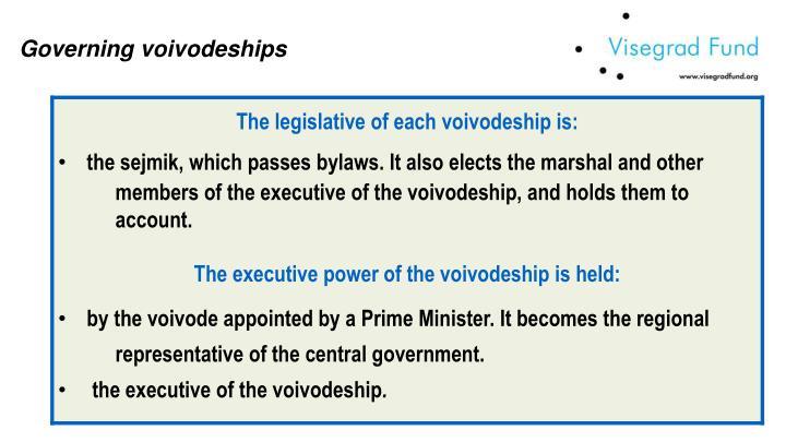 Governing voivodeships
