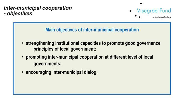 Inter-municipal cooperation