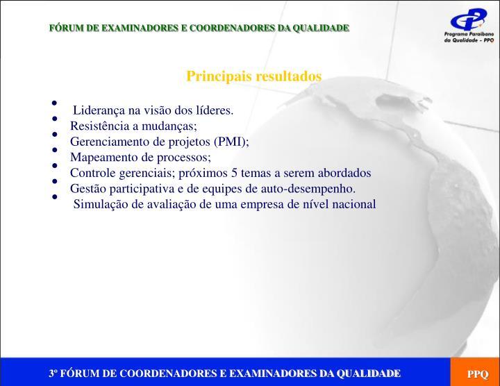 FÓRUM DE EXAMINADORES E COORDENADORES DA QUALIDADE