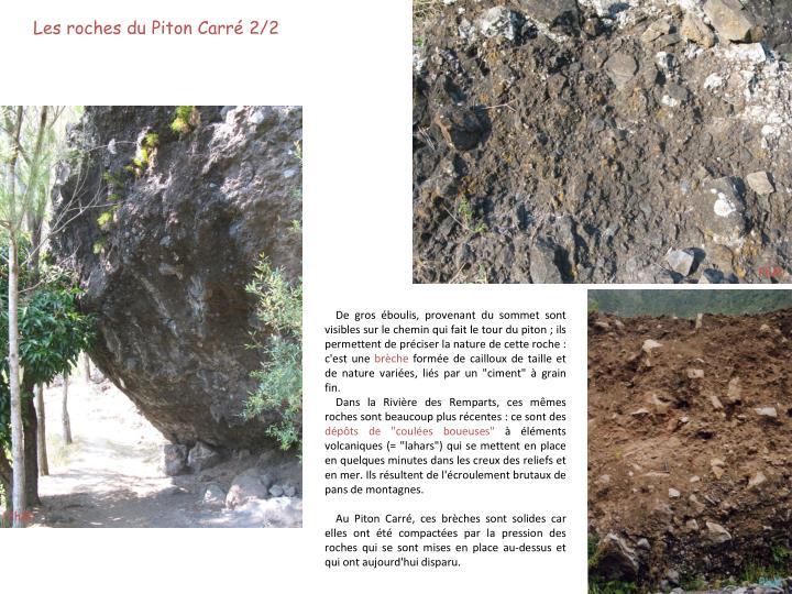 Les roches du Piton Carré 2/2