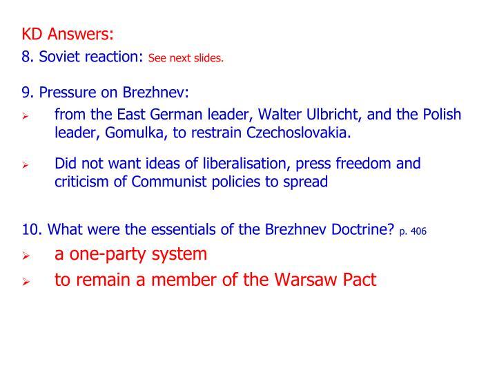 KD Answers: